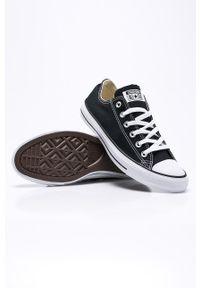 Czarne niskie trampki Converse na sznurówki, z cholewką, z okrągłym noskiem