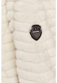 Biała kurtka EA7 Emporio Armani z kapturem