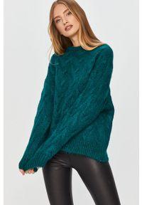 Zielony sweter Answear Lab na co dzień, z długim rękawem