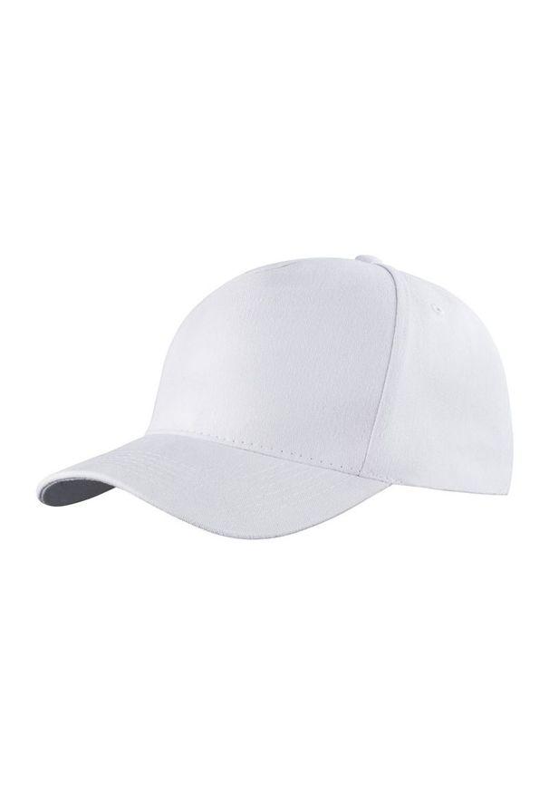Biała czapka Janpol z haftami, na lato