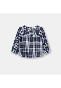 Bluzka niemowlęca w kratkę - Granatowy