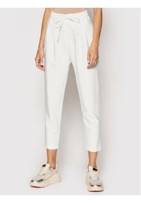 Rinascimento Spodnie materiałowe CFC0102332003 Biały Regular Fit. Kolor: biały. Materiał: materiał