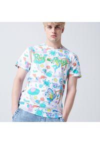 Cropp - Koszulka Rick and Morty - Biały. Kolor: biały
