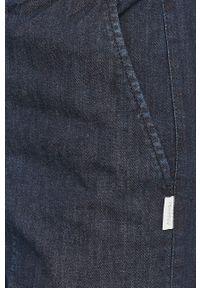 Niebieskie spodnie materiałowe Max Mara Leisure gładkie, casualowe, na co dzień