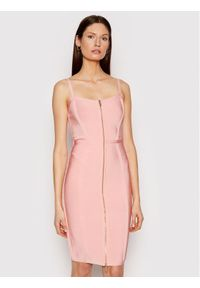 Różowa sukienka koktajlowa Marciano Guess