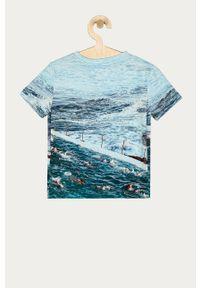 Niebieski t-shirt Desigual casualowy, na co dzień