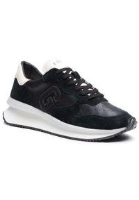 Guess - Sneakersy GUESS - Made FM5RUN LEA12 BLACK. Okazja: na co dzień. Kolor: czarny. Materiał: skóra ekologiczna, zamsz. Szerokość cholewki: normalna. Styl: casual. Sport: bieganie