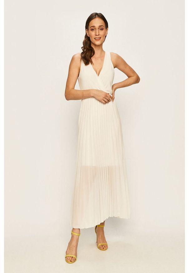 Biała sukienka Haily's rozkloszowana, maxi, bez rękawów