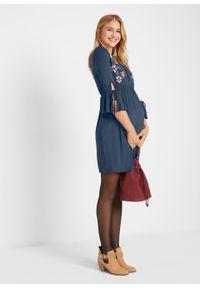 Sukienka ciążowa i do karmienia bonprix ciemnoniebieski. Kolekcja: moda ciążowa. Kolor: niebieski