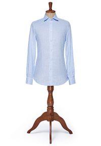 Niebieska koszula Lancerto klasyczna, na lato