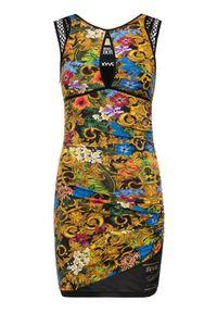 Versace Jeans Couture Sukienka letnia D2HVA405 Kolorowy Slim Fit. Wzór: kolorowy. Sezon: lato