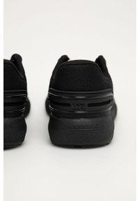 Czarne buty sportowe Under Armour do biegania, z cholewką