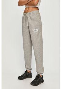 Szare spodnie dresowe Reebok gładkie