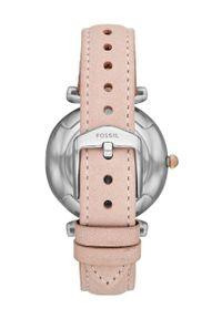 Fossil - Zegarek ES4484. Kolor: różowy. Materiał: skóra, materiał