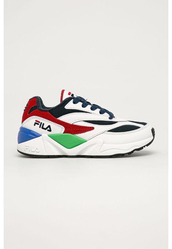 Wielokolorowe buty sportowe Fila na sznurówki, z okrągłym noskiem