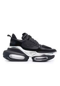 Balmain - BALMAIN - Czarne sneakersy B-Bold. Kolor: czarny. Szerokość cholewki: normalna. Obcas: na platformie