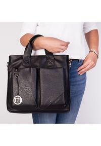 Czarna torebka Arturo Vicci elegancka, na ramię