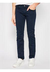 Hugo Jeansy 708 50419590 Granatowy Slim Fit. Kolor: niebieski. Materiał: elastan, materiał, bawełna