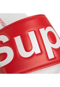 Czerwone klapki Superga na co dzień, casualowe