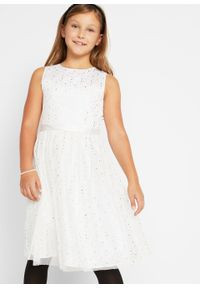 Biała sukienka bonprix z nadrukiem