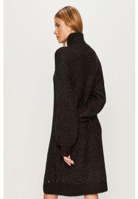 Czarna sukienka Noisy may casualowa, mini, oversize, z golfem #6