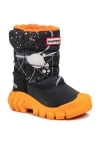 Czarne buty zimowe Hunter