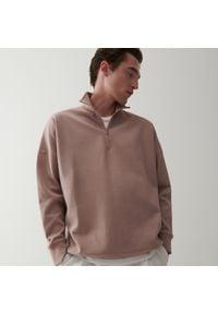 Reserved - Bluza z rozpinaną stójką - Różowy. Typ kołnierza: kołnierzyk stójkowy. Kolor: różowy