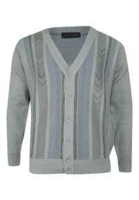 Szary sweter Elkjaer elegancki, na co dzień