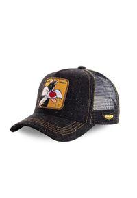 Brązowa czapka z daszkiem CapsLab z aplikacjami