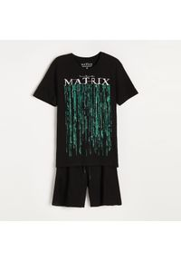 Reserved - Dwuczęściowa piżama Matrix - Czarny. Kolor: czarny