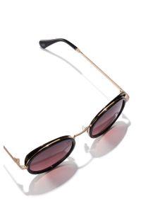 Hawkers - Okulary GOLD WINE MILADY. Kształt: okrągłe. Kolor: czerwony