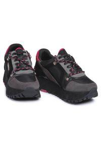 Czarne buty sportowe Liu Jo na koturnie, z cholewką