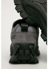 Szare sneakersy CATerpillar z cholewką, na sznurówki, z okrągłym noskiem #5