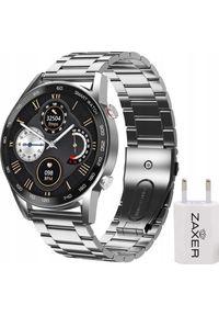 Srebrny zegarek ZAXER smartwatch