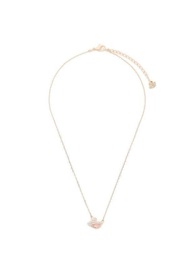 Swarovski Naszyjnik Dazzling Swan Necklace 5469989 Różowy. Kolor: różowy