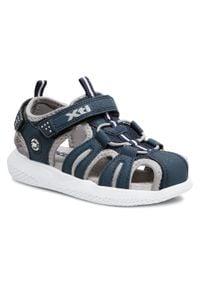 Xti - Sandały XTI - 57618 Navy. Kolor: niebieski. Materiał: skóra ekologiczna, skóra, materiał. Sezon: lato. Styl: klasyczny