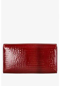 Cedar - Portfel damski czerwony lakierowany /14. Kolor: czerwony. Materiał: lakier