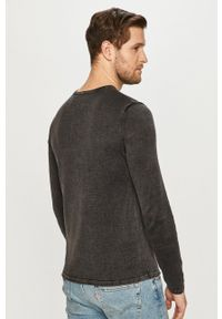 Jack & Jones - Sweter 12174001. Okazja: na co dzień. Kolor: szary. Materiał: dzianina. Styl: casual
