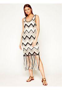 Sukienka dzianinowa Desigual w kolorowe wzory