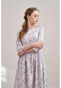 Marie Zélie - Sukienka Melania Lorica. Materiał: materiał, satyna, skóra, bawełna. Długość rękawa: krótki rękaw