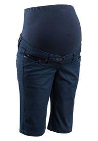 Bermudy ciążowe bonprix ciemnoniebieski. Kolekcja: moda ciążowa. Kolor: niebieski