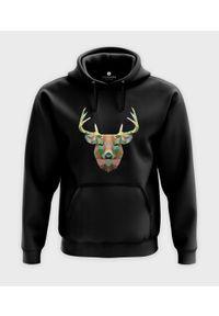MegaKoszulki - Bluza z kapturem Triangle Deer. Typ kołnierza: kaptur