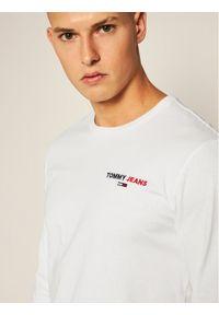 Biała koszulka z długim rękawem Tommy Jeans