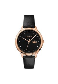 Czarny zegarek Lacoste