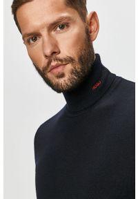 Niebieski sweter Hugo casualowy, na co dzień