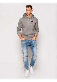 Champion Bluza Satin C Logo 214184 Szary Comfort Fit. Kolor: szary