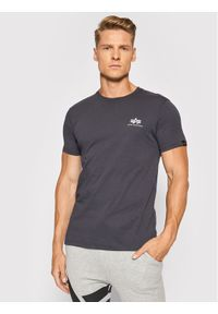 Alpha Industries T-Shirt Basic T Small Logo 188505 Szary Regular Fit. Kolor: szary