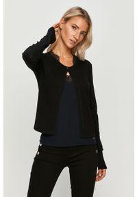 Czarny sweter rozpinany Morgan na co dzień, casualowy