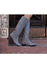 Szare kozaki Zapato wąskie, na co dzień, casualowe, w kolorowe wzory