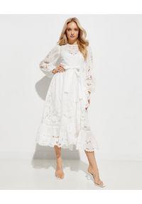 Biała sukienka midi, na imprezę